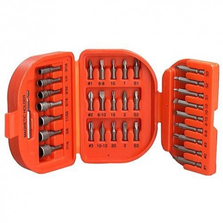 SET 32 PIEZAS ADAPTADOR MAGNETICO Y ESTUCHE BLACK AND DECKER