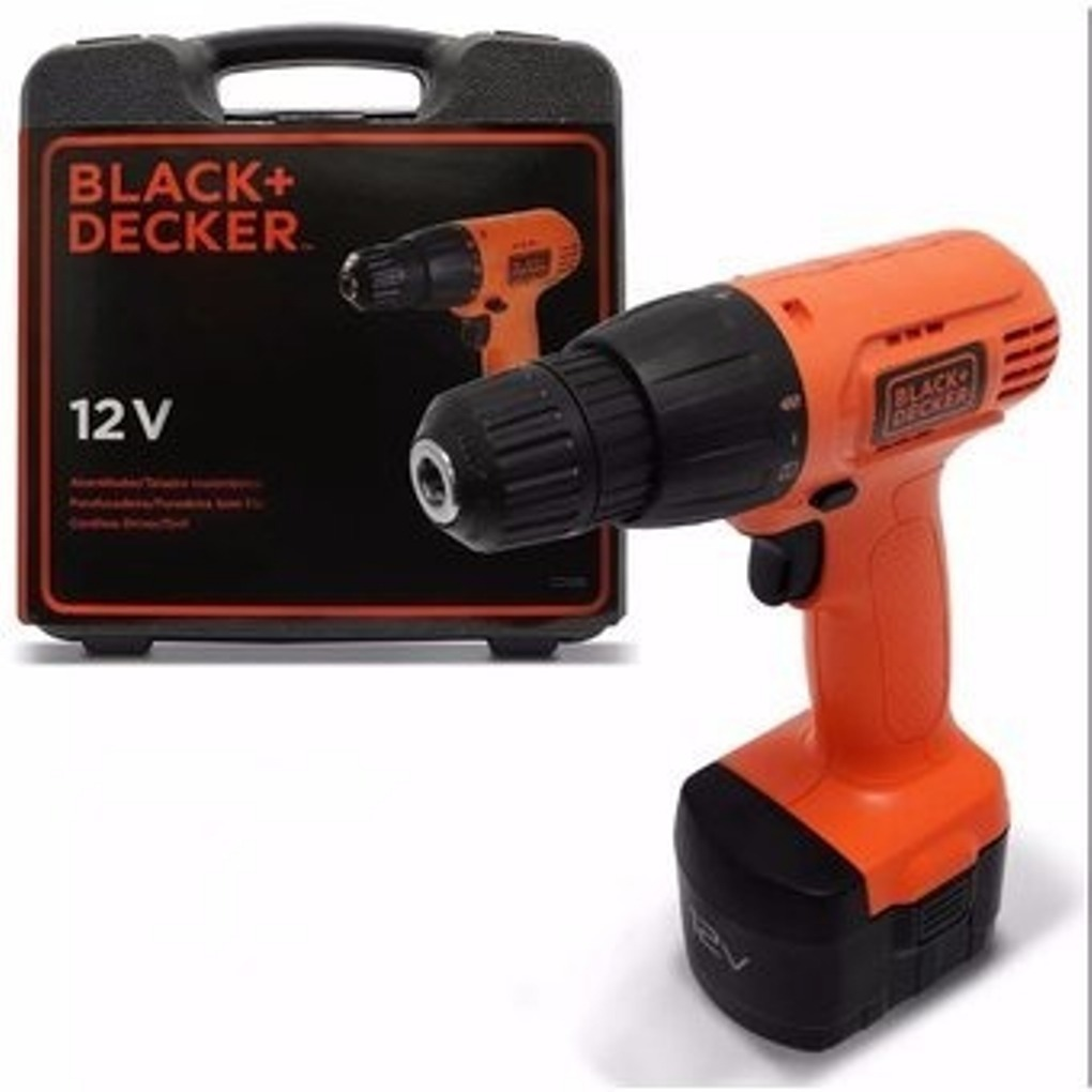TALADRO INALAMBRICO 12V CD121K BLACK AND DECKER ROTACION VVR